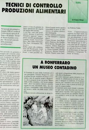 """Articolo su """"Coltivatore Veronese"""" 1997"""