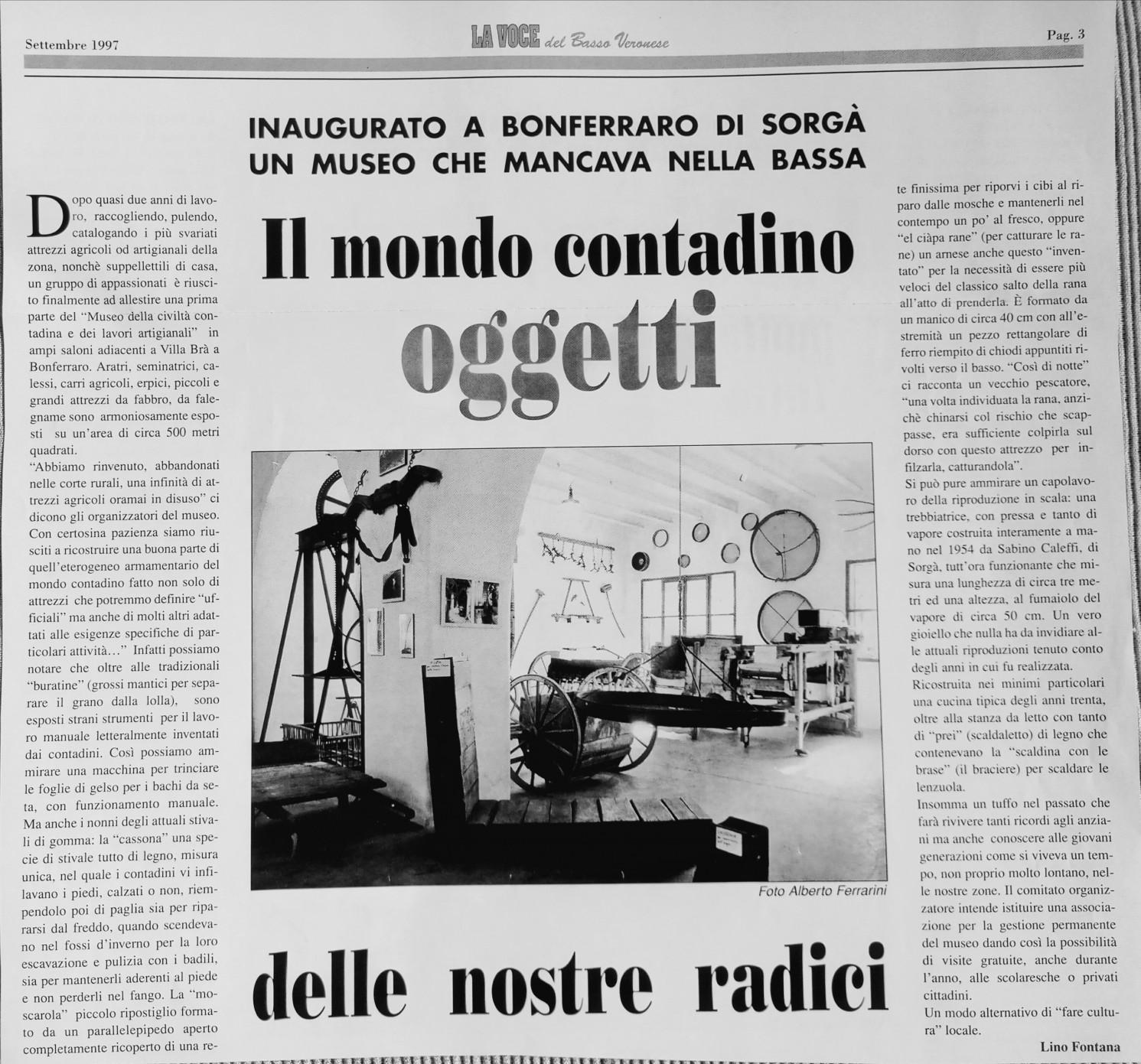 Settembre 1997 su La Voce del Basso Veronese